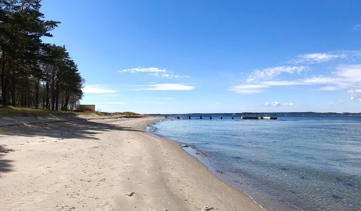 Strand på Jomfruland